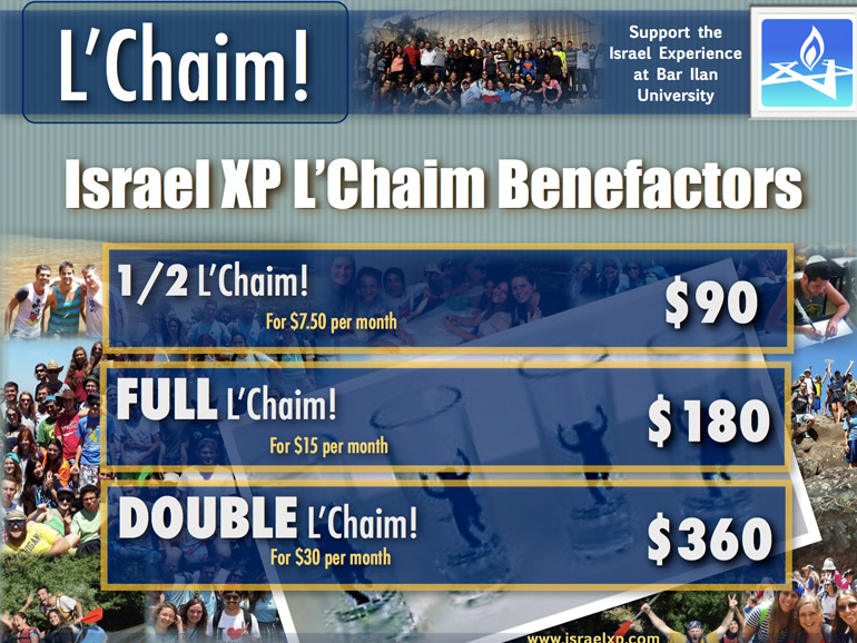 L'Chaim flier with more pics